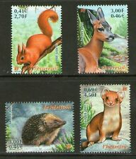 SERIE TIMBRES 3381-3384 NEUF XX LUXE  - ANIMAUX SAUVAGES DE FRANCE - NATURE