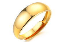 18ct Gold Plated RGP Men's Women's 7mm Adjustable Open Band Classic Wedding Ring