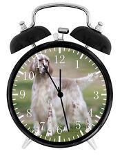 English Setter Alarm Desk Clock Home or Office Decor F69 Nice Gift
