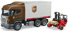 Bruder Toys Scania R-Series UPS Logistics Truck w/ forklift 03581 NEW 2018