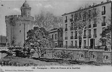 CPA 66 PERPIGNAN HOTEL DE ET LE CASTILLET (cpa Fau émail couleur grise
