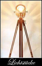 Tripod Holz Stativ Steh Lampe - Leuchte Aero mit dimmb. LED und Fernbedienung