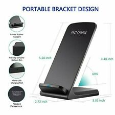 Fast Qi Wireless Charger Dock Station Stand For Samsung Galaxy S20 S10 Note 10 9