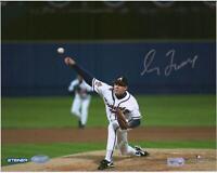 "Greg Maddux Atlanta Braves Signed 8"" x 10"" 1995 World Series First Pitch Photo"