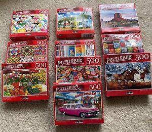 "Lot of 10 Assorted Puzzlebug CraZart 18.25"" X 11"" 300 Piece Puzzles"
