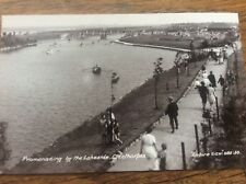 Promenading by the Lakeside Cleethorpes Empire View RPPC Lincolnshire Postcard