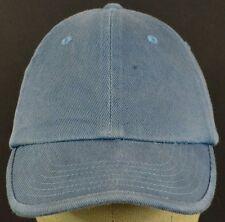 Plain Solid Blue Gray Gap Baseball Hat Cap Adjustable Strap