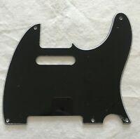 Custom Guitar Pickguard For Vintage 5-hole Fender Telecaster,3 Ply Black