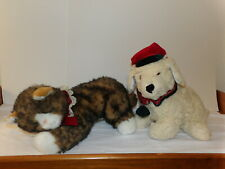 HTF Commonwealth 1992 NICK & NOEL Plush Christmas DOG & CAT Set (*19)