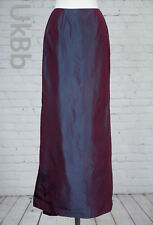 Monsoon Skirt Long Two Tone Purple Fishtail Size 8 With Train Maxi Bridesmaid