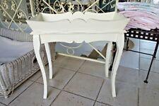 Shabby Beistelltisch Deko Tisch Blumentisch Holz 62x60x30 cm Weiß Retro Stil NEU
