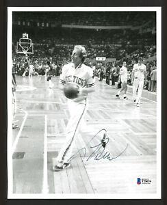 Larry Bird Autographed 8x10 Photo Celtics Vintage Sig (Smear) Beckett T29039