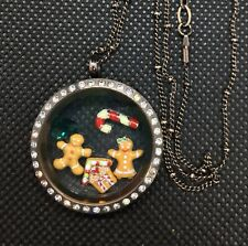 Authentic Origami Owl Christmas Gingerbread Man & Woman Charms Chocolate LOCKET