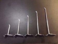10 Slatwall Hooks 150mm Long 6mm Steel Quality Shop Fitting