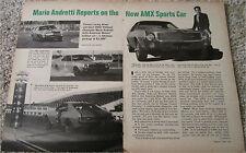 1968 AMC AMX car article featuring Mario Andretti