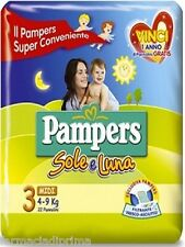 PAMPERS Sole-Luna 7 conf. 3°mis. 4-9kg 154 pannolini