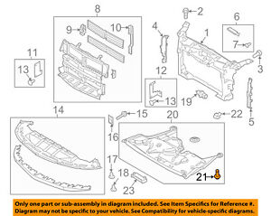 Lincoln FORD OEM 13-15 MKS Radiator Core Support-Under Cover Screw AG1Z00817A