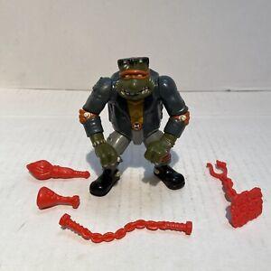 1993 Playmates Ninja Turtles TMNT Michelangelo Mike Frankenstein Complete