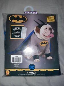 Batman Gray DC Comics Superhero Big Dog Dress Up Halloween Pet Dog Costume XXL
