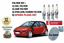 FOR SMART FORFOUR 1.5 2004->  SERVICE OIL AIR POLLEN FILTER + 4 SPARK PLUGS