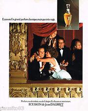 PUBLICITE ADVERTISING 055  1975  JEAN D'ALBRET  parfum ECUSSON eau de cologne to