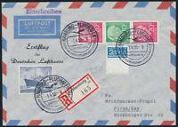 BUND, S 34 auf portogerechtem Brief, Lufthansa-Erstflug, Mi. 30,-+