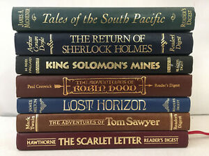 Reader's Digest Classics HC The Scarlet Letter Lost Horizon Tom Sawyer Lot of 7