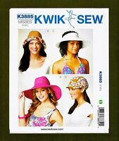 Misses Hats & Cap Sewing Pattern~4 Variations! (Sizes S, M, L) Kwik Sew 3885