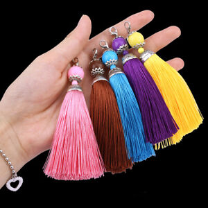 Silk tassel 11cm with clasp for fashion accessories, sewing etc (UK SELLER)