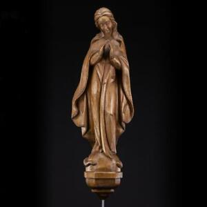 "Virgin Mary Child Jesus Sculpture | Madonna Christ Statue | Wood Carving | 20""_"