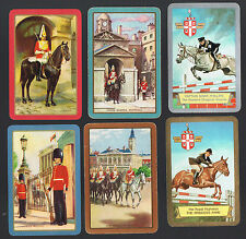 """Playing Swap Cards 6 GENUINE  VINTAGE  """"ALL THE QUEENS HORSES""""  ROYALTY #238A"""