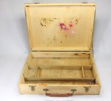 Vintage Painters Artist Solid Wood Box Dovetailed Hinged Palette Carrier