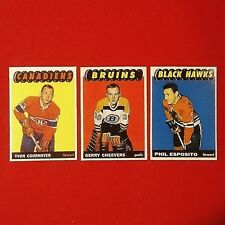 Cournoyer/Esposito/Cheevers (Rookie Reprints) - 1960's - Parkhurst - Lot of 3