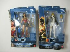 2 DC Multiverse Action Figures Lot Wonder Woman The Ray DAMAGED BOX