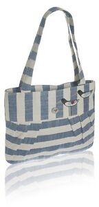 Blue Tote Bag - Oyster Catcher Bird design Slim Linen - Fair Trade BNWT