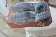 800 $ LORO PIANA  women  cashmere&suede boot/slippers  grey size 38