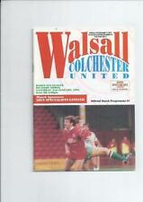 Division 3 Walsall Teams S-Z Football Programmes