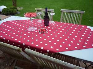 Tablecloth Provence 130x150 CM Red Dots White from France Easy-Care