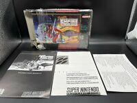 Super Star Wars: The Empire Strikes Back Super Nintendo SNES Box & Manual ONLY*