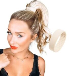 Hair Silicone Band | High Pony-O Tail | Amazing Quality | Instructions | Blonde