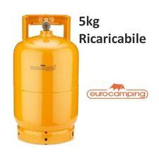 BOMBOLA GAS 5 KG PROPANO RICARICABILE VUOTA CAMPING FORNELLO