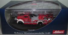 SCHUCO 03071 1:43 SCALE OPEL BLITZ S 3t FEUERWEHR TURNTABLE LADDER FIRE TRUCK