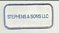 Stevens & Sons LLC advertising patch 2 X 3-7/8 #3347