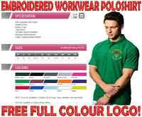 PERSONALISED EMBROIDERED WORKWEAR POLOSHIRT. FULL COLOUR LOGO INCLUDED!