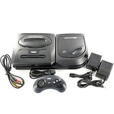 Sega CD Model 2 w/ Genesis Model 2 Console 2 Power Adapters, 6 Button Controller