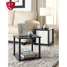Cube Storage Shelf Single Organizer Furniture Decor End Side Tables  Set of 2