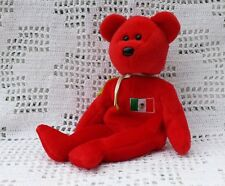 Ty Original Beanie Babies Retired Osito the Mexico Bear Red Plush Animal No Tag