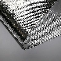 EXHAUST HEAT SHIELD ALUMINISED GLASS FIBRE CLOTH WRAP - 0.5M WIDE X 25M ROLL