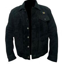 Yellowstone Cole Hauser Rip Wheeler Stylish Black Cowboy Suede Leather Jacket