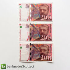 More details for france: 3 x 200 french franc banknotes.